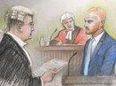 A court sketch of Ben Stokes, Bristol, August 9, 2018