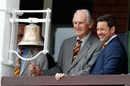Ted Dexter rings the five-minute bell at Lord's, England v India, 2nd Test, Lord's, 2nd day, August 10, 2018