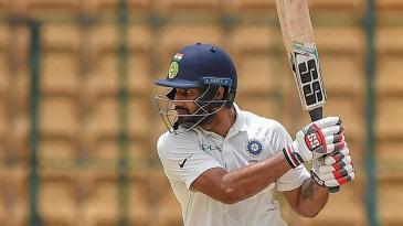 Hanuma Vihari drives the ball square