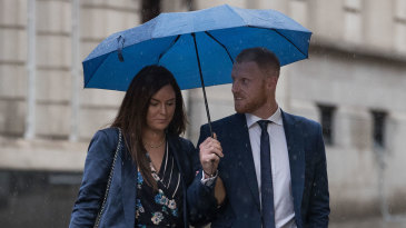 Ben Stokes arrives at court with his wife Clare