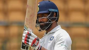 Hanuma Vihari raises his bat
