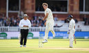 Sam Curran celebrates after removing Dinesh Karthik, England v India, 2nd Test, Lord's, 2nd day, August 10, 2018