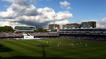 After more heavy rain, the sun eventually came out at Lord's
