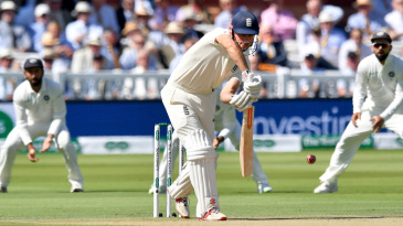 Alastair Cook showed a solid defence early on