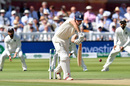 Alastair Cook showed a solid defence early on, England v India, 2nd Test, Lord's, 3rd day, August 11, 2018