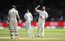 Hardik Pandya celebrates Ollie Pope's dismissal, England v India, 2nd Test, Lord's, 3rd day, August 11, 2018