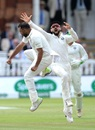 Mohammed Shami and Virat Kohli celebrate a wicket, England v India, 2nd Test, Lord's, 3rd day, August 11, 2018