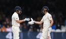 Jonny Bairstow congratulates Chris Woakes on reaching a half-century, England v India, 2nd Test, Lord's, 3rd day, August 11, 2018