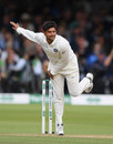 Kuldeep Yadav delivers the ball, England v India, 2nd Test, Lord's, 3rd day, August 11, 2018