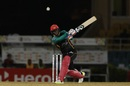 Devon Thomas plays a shot, Trinbago Knight Riders v St Kitts and Nevis Patriots, CPL 2018, Port of Spain, August 11, 2018