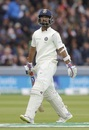 Ajinkya Rahane walks back after being dismissed by Stuart Broad, England vs India, 2nd Test, Day 4, Lord's, August 12, 2018
