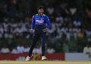 Akila Dananjaya lets out a roar, Sri Lanka vs South Africa, 5th ODI, Colombo, August 12, 2018