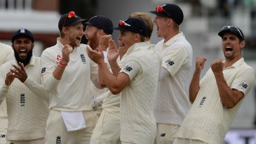 England were particularly thrilled when Virat Kohli's review failed