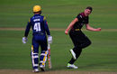 Jamie Overton celebrates the wicket of Colin Ingram, Somerset v Glamorgan, Vitality Blast, South Group, Taunton