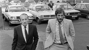 Ian Botham with his lawyer, Alan Hurd