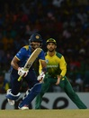 Dinesh Chandimal sets off for a run, Sri Lanka v South Africa, Only T20I, Colombo, August 14, 2018