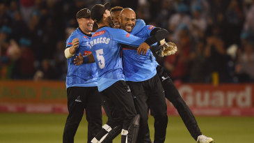 Tymal Mills claimed a hat-trick for Sussex