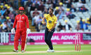 Grant Elliott celebrates a wicket, Birmingham v Lancashire, Vitality Blast, North Group, August 15, 2018