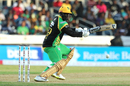 Kennar Lewis helps the ball into the off side, Jamaica Tallawahs v St Kitts and Nevis Patriots, CPL 2018, Kingston, August 15, 2018