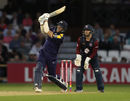 David Willey clears the boundary, Northants v Yorkshire, Vitality Blast, North Group, August 16, 2018