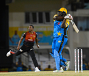 Rahkeem Cornwall clatters Shannon Gabriel over square leg, ST Lucia Stars v Trinbago Knight Riders, Gros Islet, August 16, 2018