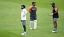 Virat Kohli, Rishabh Pant and Cheteshwar Pujara go through fielding drills at Trent Bridge, Nottingham, August 16, 2018