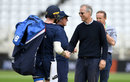Ben Stokes gets a handshake from Ed Smith, Trent Bridge, August 17, 2018