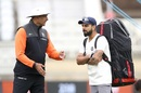 Ravi Shastri and Virat Kohli in discussion during a nets session, England v India, 3rd Test, Trent Bridge, August 17, 2018