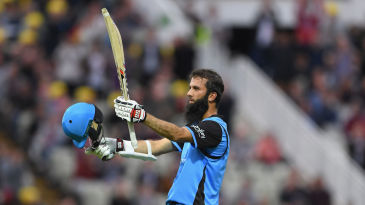 Moeen Ali acknowledges the ovation for his hundred