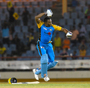 Kieron Pollard exults after bringing up his maiden T20 hundred, Stars v Tridents, CPL 2018, St Lucia, August 17, 2018