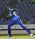 Jason Holder celebrates David Warner's dismissal, Stars v Tridents, CPL 2018, St Lucia, August 17, 2018