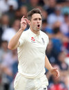 Chris Woakes celebrates a wicket, England v India, 3rd Test, Trent Bridge, 1st day, August 18, 2018