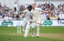 Shikhar Dhawan and Ben Stokes collide as the opener tries to complete a run, England v India, 3rd Test, Trent Bridge, 1st day, August 18, 2018