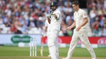 Virat Kohli celebrates his fifty