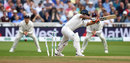 Rishabh Pant plays one onto his stumps, England v India, 3rd Test, Trent Bridge, 2nd day, August 19, 2018