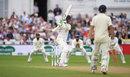 Keaton Jennings slaps through the covers, England v India, 3rd Test, Trent Bridge, 2nd day, August 19, 2018