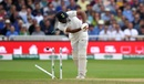R Ashwin loses his middle stump, England v India, 3rd Test, Trent Bridge, 2nd day, August 19, 2018