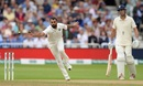 Mohammed Shami stretches to stop the ball, England v India, 3rd Test, Trent Bridge, 2nd day, August 19, 2018