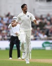 Ishant Sharma is overjoyed after taking a wicket, England v India, 3rd Test, Trent Bridge, 2nd day, August 19, 2018
