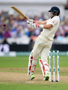 Joe Root deals with a short one, England v India, 3rd Test, Trent Bridge, 2nd day, August 19, 2018