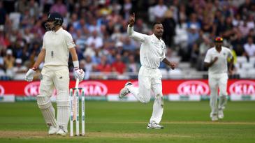 Hardik Pandya celebrates striking with his first ball