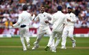 Hardik Pandya is pumped up on his way to a maiden Test five-for, England v India, 3rd Test, Trent Bridge, 2nd day, August 19, 2018