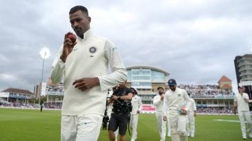 In the spotlight: Hardik Pandya leads India off the field