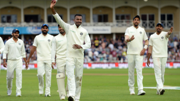 Hardik Pandya is all smiles after bagging his first five-for in Test cricket