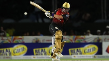 Colin Munro pulls the ball