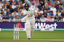 Cheteshwar Pujara takes off for a run after driving down the ground, England v India, 3rd Test, Trent Bridge, 3rd day, August 20, 2018