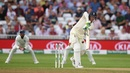 Keaton Jennings plays a defensive push, England v India, 3rd Test, Trent Bridge, 3rd day, August 20, 2018