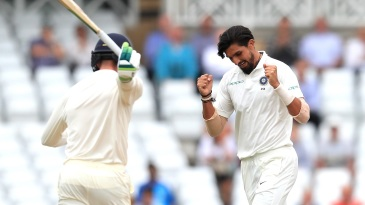 A wicket falls, Ishant Sharma is elated, Keaton Jennings is annoyed