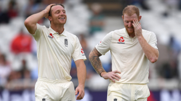 Jos Buttler and Ben Stokes share a laugh