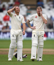 Jos Buttler and Ben Stokes share a laugh, England v India, 3rd Test, Trent Bridge, 4th day, August 21, 2018